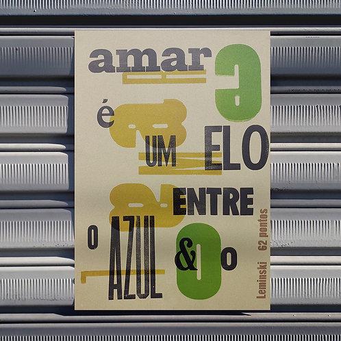 Poster Amar é um elo