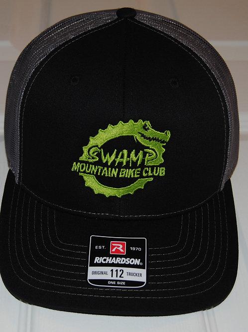 Black and Grey Swamp Trucker Hat
