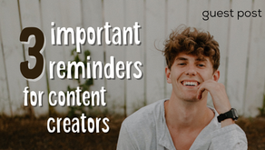 3 Habits That Go Well With Content Creation