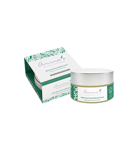 Amina's Natural Aloe Vera Face & Body Cream 50ml