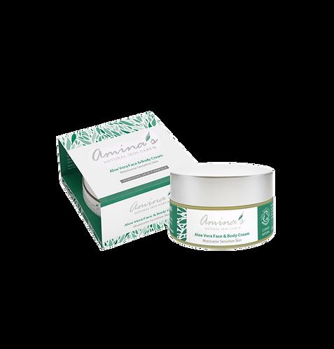 Amina's Natural Aloe Vera Face & Body Cream 50ml