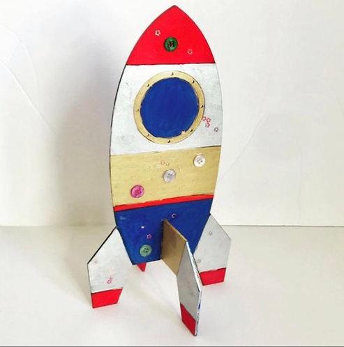 Bee Little DIY Wooden Rocket