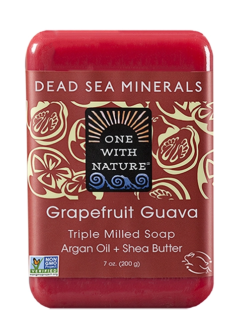 One With Nature Grapefruit Guava Soap