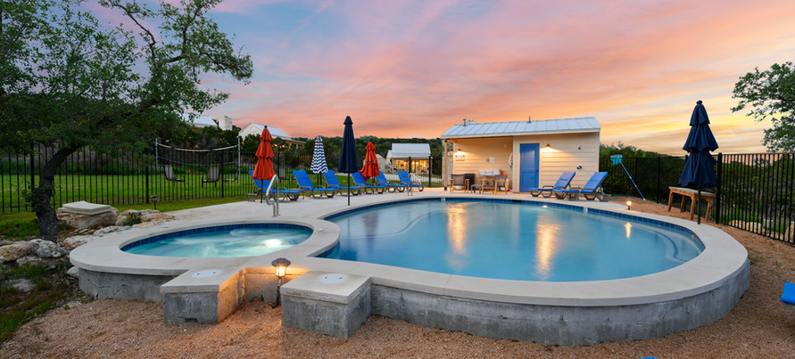The swimming pool and hot tub open year around