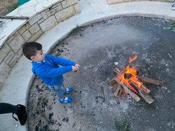 kid with smore