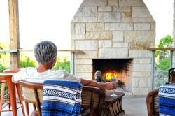 porch wine fire