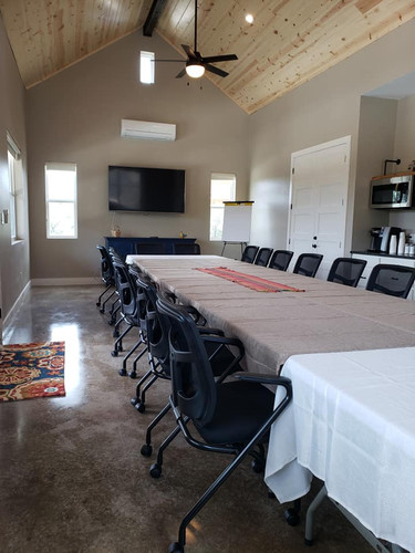 Seating for 24 board room style