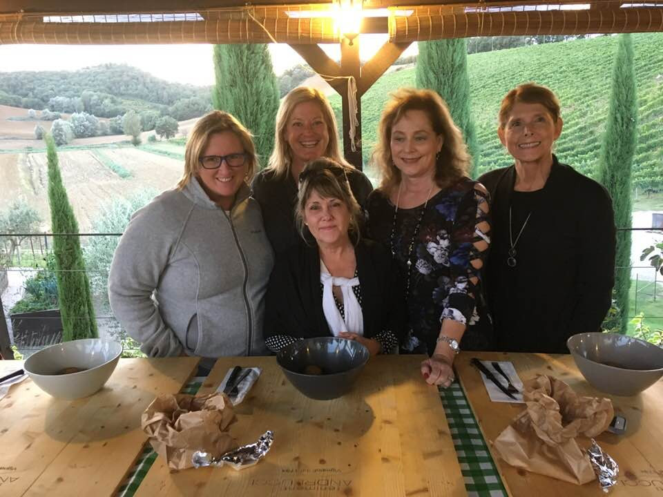 My friends and me at Tenimenti Andreucci near Pienza Italy