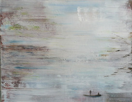 Boot ohne Leine 70x90cm Acryl auf Leinwand