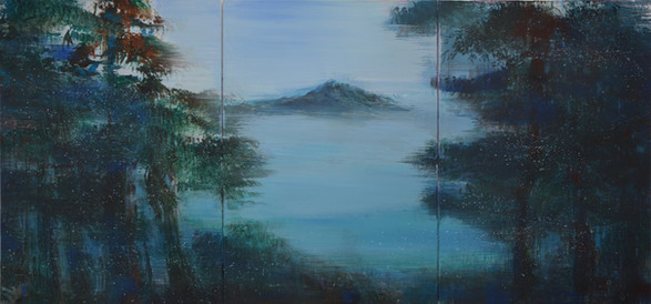 to the lake 100x210cm Acryl auf Leinwand