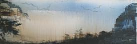 Echo of the valley 40x120cm Acryl auf Leinwand