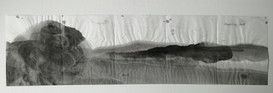 Floating 20x 70cm chinese ink on rice paper