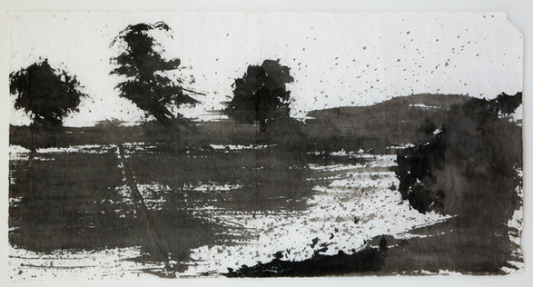 74x140cm  chinese ink on rice paper