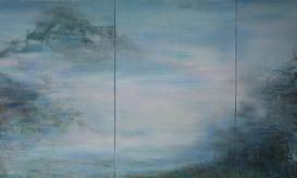 cloudy utopia, 150x250cm, acryl aud Leinwand