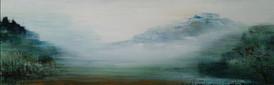 all the world is green 2 , 65x210cm,acryl auf Leinwand