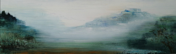 all the world is green 2 , 65x210cm,acryl auf Leinwand