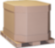 © Innovative Enterprises, Inc. Bulk Pack Combo Box on Paper Pallet Top Cap On