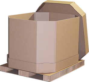 © Innovative Enterprises, Inc. Bulk Pack Combo Box on Paper Pallet Top Cap Off