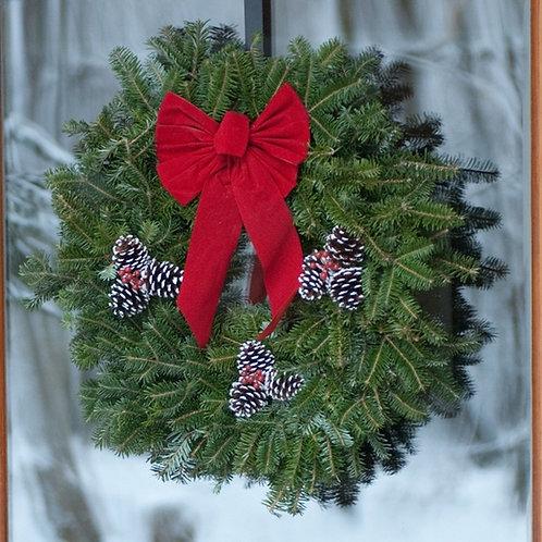 Decorated Fraser Fir Wreath