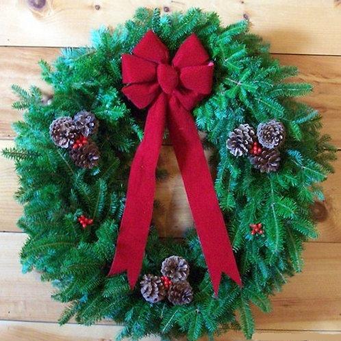 Decorated Balsam Wreath