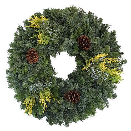 Fresh Mixed Noble Fir Wreath