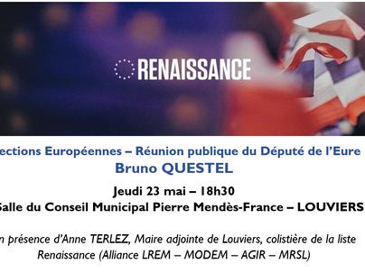 Elections européennes - Réunion publique Louviers - Jeudi 23 mai 18h30