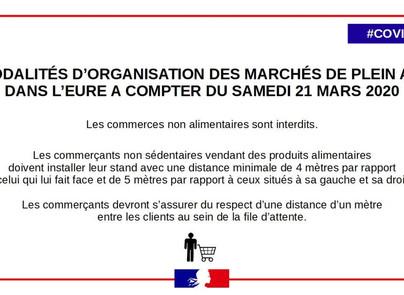 #COVID19 - Arrêté du Préfet de l'Eure réglementant les marchés de plein air.