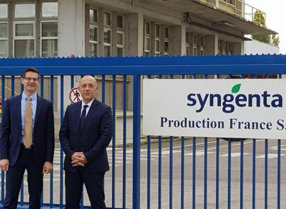 25/10 : visite du site Syngenta à Saint-Pierre la Garenne