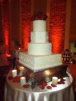 Terrell-Josh (cake with uplighting)
