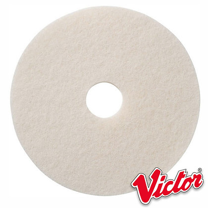 """15""""  White Polishing Floor Pads - Box of 5 - VE15WHITE"""