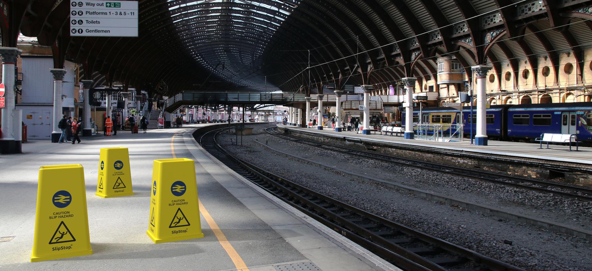 SlipStop Cone branded National Rail