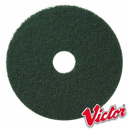 "17""  Green Scrubbing Floor Pads  - Box of 5 - VE17GREEN"