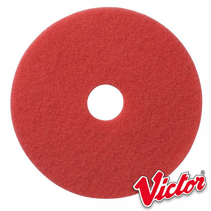 """17""""  Red Buffing Floor Pads  - Box of 5 - VE17RED"""