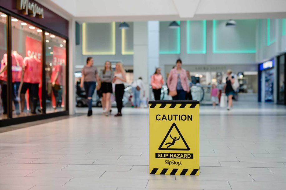 SlipStop in Shopping Centre