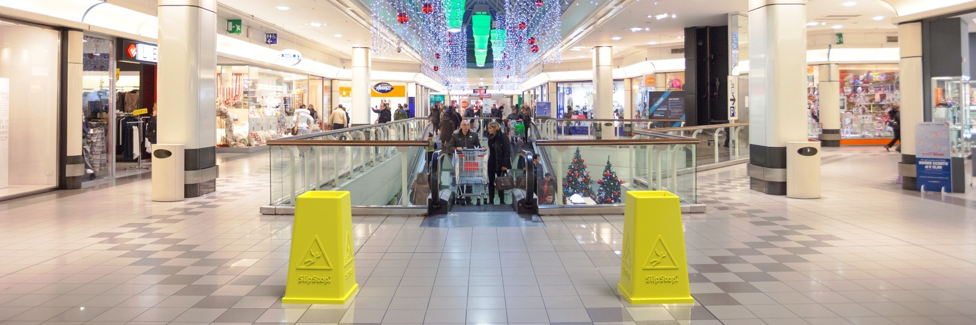 SlipStop Cone in Shopping Centre