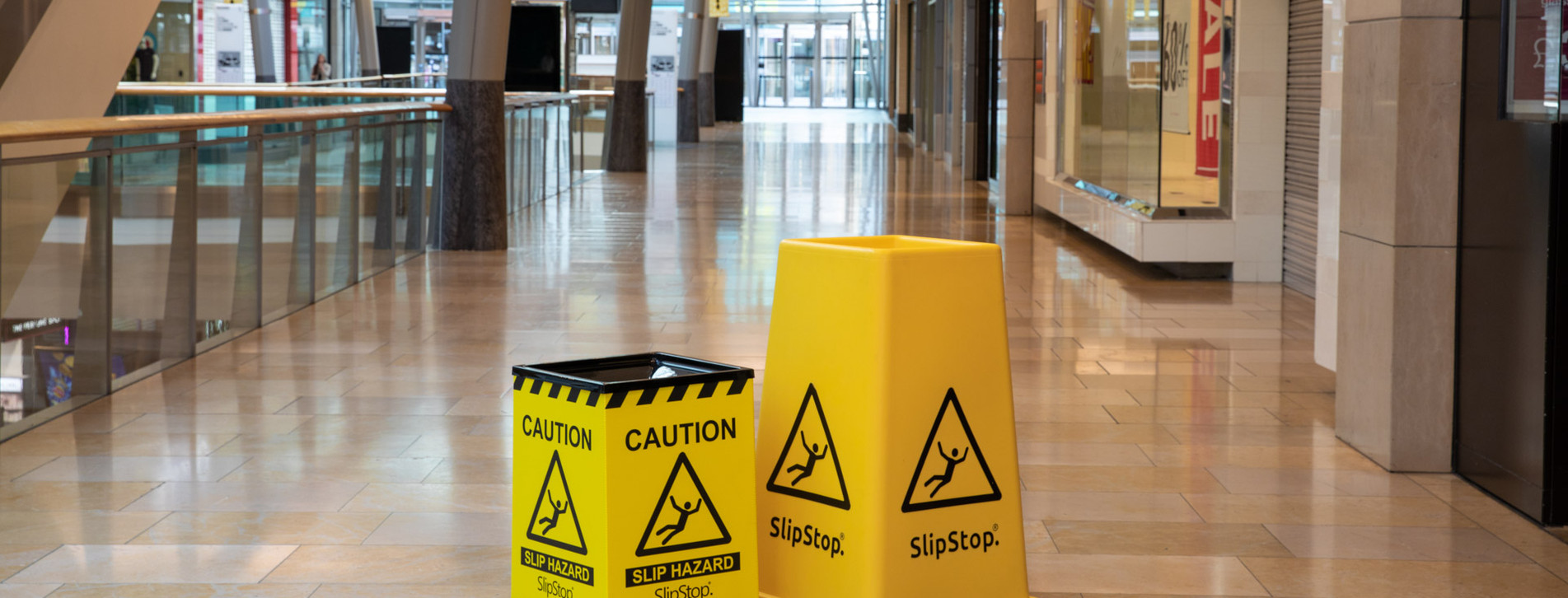 SlipStop 65 and SlipStop Cone in a Shopping mall
