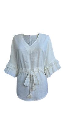 Блуза Волан біла