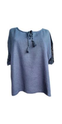 Блуза Ажур синя