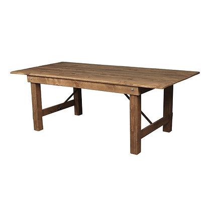 Velký dřevěný stůl - tmavý