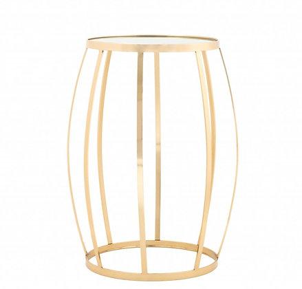 Kovový stolek - zlatý