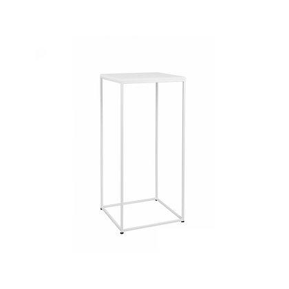 Bistro stolek bílá / bílá
