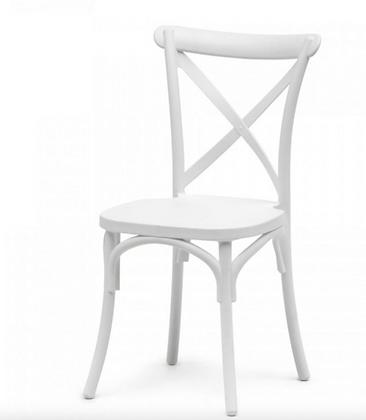 Židle cross - bílá