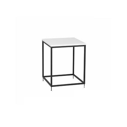 Stolek 40 x 40 cm - černá / bílá