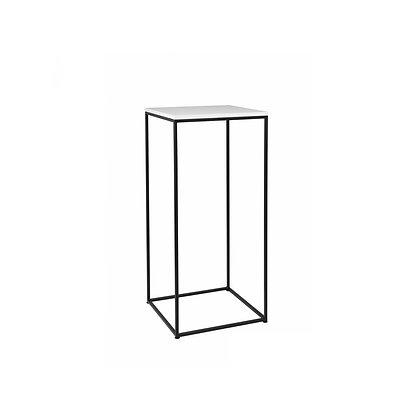 Bistro stolek černá / bílá