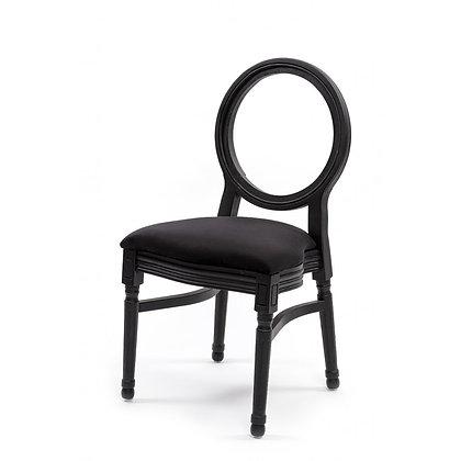 Židle Louis - černá s dírou