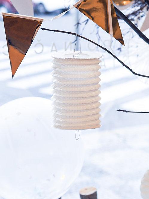Lampion bílý 28cm
