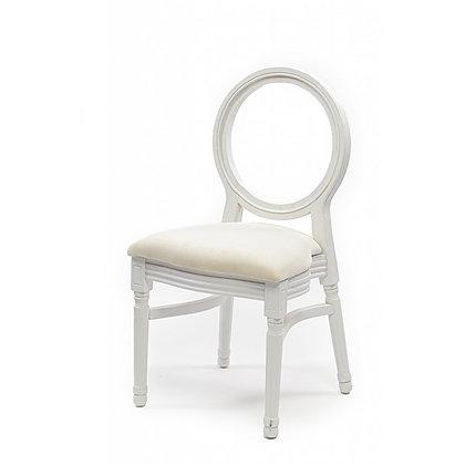 Židle Louis - bílá s dírou