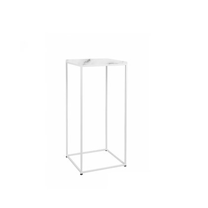Bistro stolek mramor - bílý