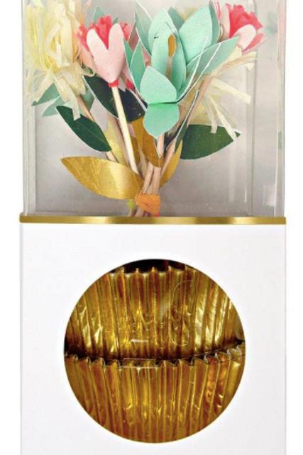 Ozdoba na cupcake - kytky