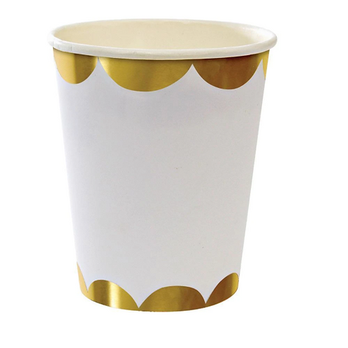 Papírový kelímek - zlaté okraje